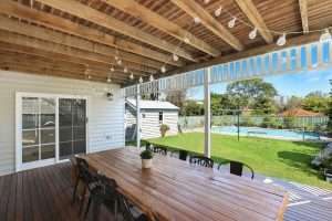 Covered Deck with Pool