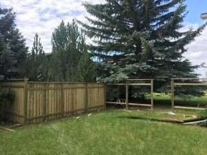 Wooden Fence Construction